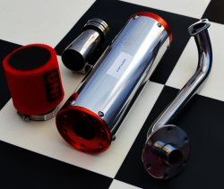 GY6 Hammerhead Performance Intake & Exhaust Kit
